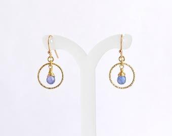 Tanzanite earrings, December Birthstone Earrings, Purple Stone Earrings, Wedding Gift,  Birthday Gift, Anniversary Gift, Gift For Her