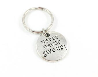 Keychain, Inspiration Keychain, Never Give Up, Keychain Gift, Mental Health