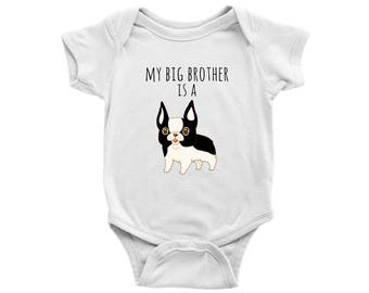 My Big Brother is a Frenchie French Bulldog Baby Bodysuit Dog Lover Baby Clothes, Baby Boy, Baby Girl Bodysuit, Newborn Baby Shower Gift