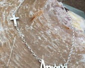 Ariana necklace, Custom word necklace, Greek name necklace Personalized necklace, Name necklace, Sterling Silver 925, Special gift