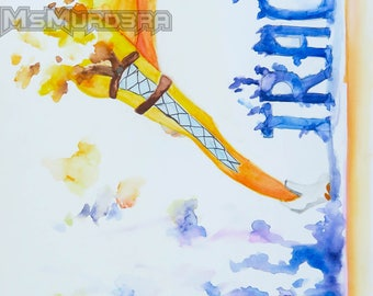 Watercolor Overwatch Tracer Print