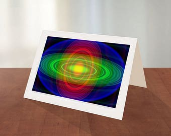 Abstract Art Greeting Card 1-Pkg of 6  Cards With Envelopes-Abstract Art Cards-Any Occasion Card-Everyday Card-Collector Art Cards
