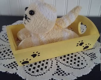 Yellow Sock Animal (w/bed)