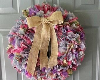 Colorful Wreath, Colorful Door Wreath, Colorful Wall Hanging, Spring Front Door Wreath, Spring Door Hanger, Spring Door Wreath, Spring Decor