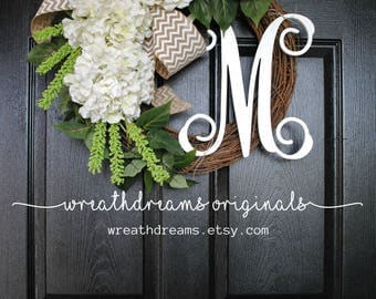 BEST SELLER! White Hydrangea Wreath. Year Round Wreath. Spring Wreath. Summer Wreath. Door Wreath. Grapevine Wreath.