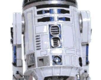 R2- D2 robot Star Wars Cross Stitch Pattern Pdf Star Wars pattern korss - 150 x 207 stitchess - INSTANT Download - B454