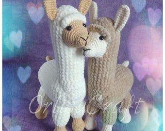 PATTERN - Llama or alpaca? Llampaca! - crochet cute amigurumi plushie toy, written PDF by OrlicaCraft