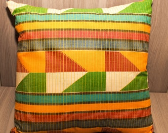 Kente Cloth Throw Pillow