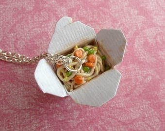 Takeout Box Chinese Food Miniature Food Jewelry Polymer Clay Chinese Food