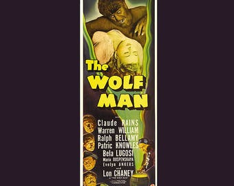 Wolf Man 1931 Movie Poster Finest Quality Many Sizes Available