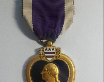 Easter Sale Vintage Vietnam in Country Made Purple Heart Medal