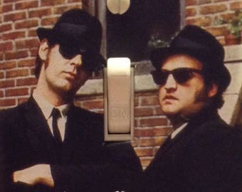 The Blues Brothers Elwood and Joliet Jake Dan Aykroyd John Belushi Light Switch Cover Mancave Home Theater Den Dorm Bedroom FREE US SHIPPING