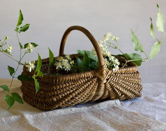 Classic French Woven Gathering Basket