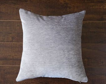 Silver Velvet Pillow Cover, velvet pillow cover, silver pillow cover, throw pillows, cushion, decorative pillow cover, holiday decor