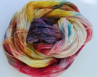 Autumn: Handyed superfine merino 4 Ply 100g
