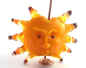 ON SALE 25% OFF loversofbeads Sra artist Lampwork Sra artist Lampwork sun pendant glass - S561