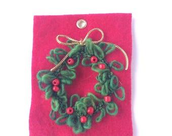 étiquette de Noël - décoration de noël - décoration de table - couronne de noel