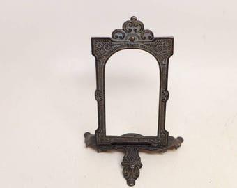 Vintage Cast Iron Picture Stand - Antique Victorian Cast Iron Frame - Victorian Picture Frame - Victorian Decor