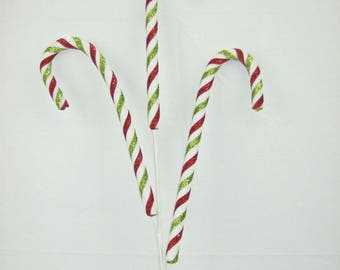 33' Red White & Green Candy Cane x3 Spray/Wreath Supplies/Christmas Decoration/82565RWG
