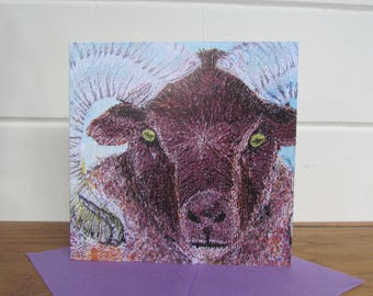 Ram card ~ sheep ~ Ram ~ sheep art ~ farm gifts ~ sheep gifts ~ sheep gifts ~ sheep art
