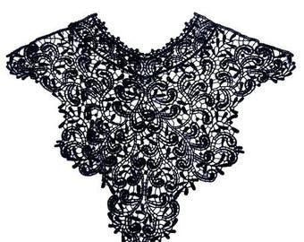 COLLAR neckline lace applique embroidery