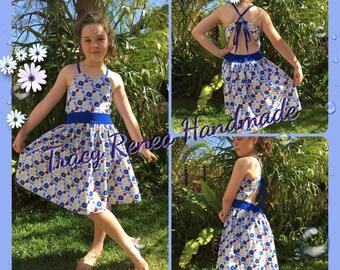 Strappy Summer Flower Girls Dress