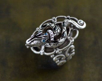 Snake Ring, Snake Jewelry, Serpent Ring, Serpent Jewelry, Egyptian Snake Ring, Gold Snake, Vintage Snake, Silver Snake R530