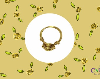 Gold Wire Rose Ring by Ave's Dime Shop