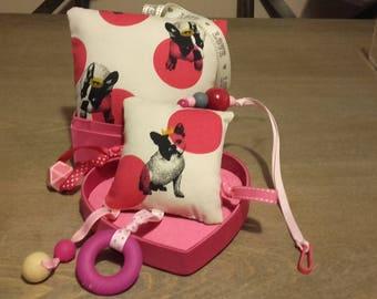baby box cute Bulldog! music and activity toy box.