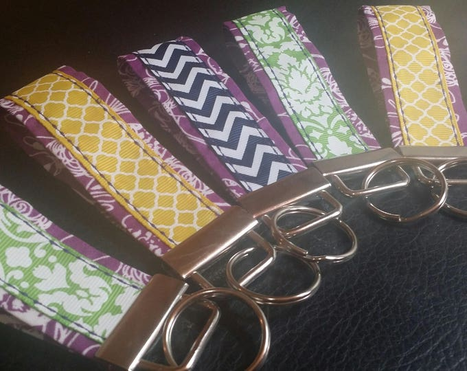Key Chains-Key Rings-Key Fobs-Purple n' Assorted Ribbons