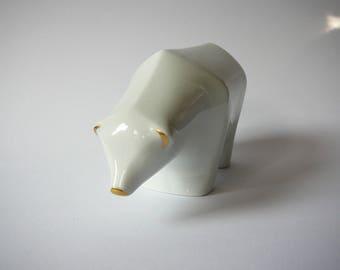 Polar Bear Porcelain Figurine Fürstenberg Germany Furstenberg
