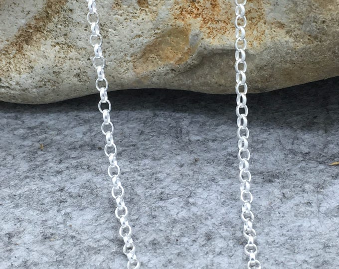 Sterling Silver, size 3, Belcher Chain.