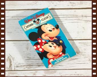 Walt Disney Cartoon Classics Volume 6 VHS Video - 1987 Mickey & Minnie Mouse Cartoons - 1937-1941 Shorts - Disney Movie - Rare Collectible