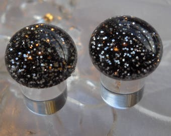 0g Plug, 00g Plug, 0g Black and Silver Glitter Plug, 0g Glitter Plug, 00g Glitter Plug