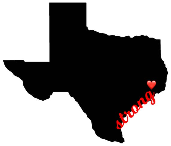 TEXAS STRONG decal |Free Shipping | With tiny heart for added personalization