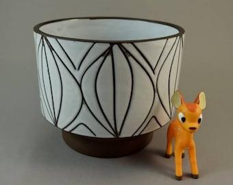 Vintage pottery planter made by BKW Böttger Keramik   West German Pottery   60s