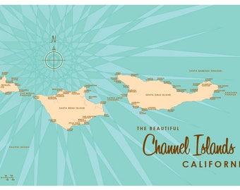 Channel Islands, CA Map Print