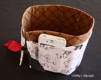Scotty Dog handbag organiser. Handmade.