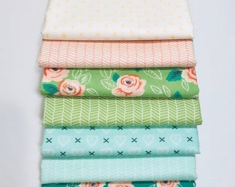 SALE!! 1/2  Yard Bundle Sugar Pie by Vanessa Goertzen Lella Boutique for Moda- 8 Fabrics