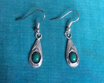 Vintage Southwestern Sterling Silver Earrings