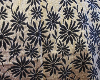 Black and gold fabric 863