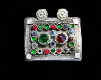Small Kuchi Afghan Pendant Vintage Tribal Jewelry Finding Ethnic Adornment Focal