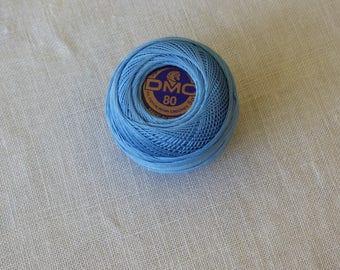Cotton lace collar blue n80 813 DMC
