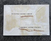 "Carte artistique ""open your mind"""
