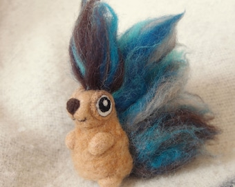 Twin no. 1 Jack Fuzzy Butt - OOAK needle felted decortive doll figurine