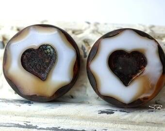 Pure Heart, Heart Beads, Czech Beads, N1921