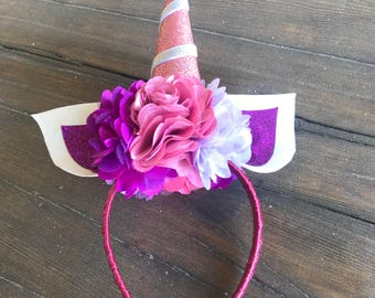 Custom Unicorn Headband for Girls, Kids, Adults and Party Favors