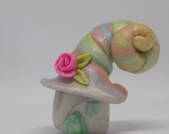miniature polymer clay fairy house