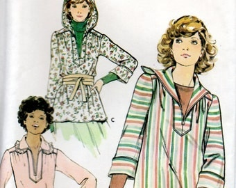 1970s Butterick Sewing Pattern 5749 Misses Top Belt Size 12
