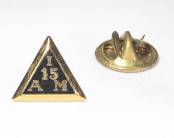 IAM Pin, Gold Fill, IAM Tie Tack, Machinist Union, Triangle Pin